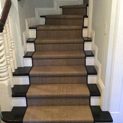 dark brown stair runner