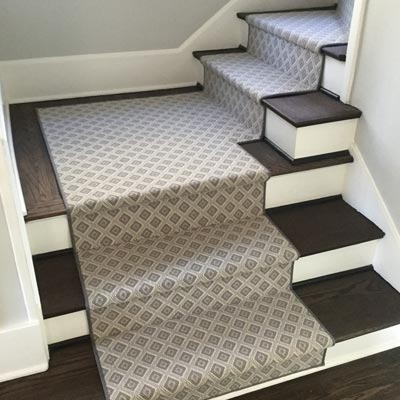 diamond pattern stair runner