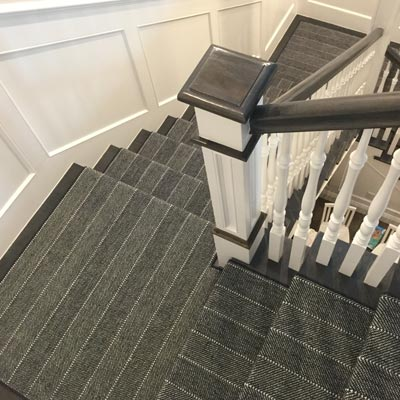 pin stripe stair runner