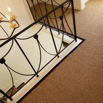 custom edging on carpet