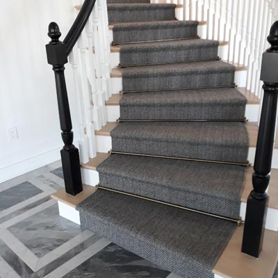 dark grey stair runner
