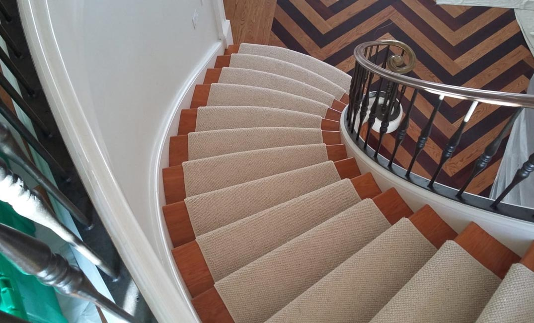 tan stair runner