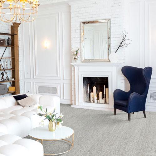 tan carpet in living room