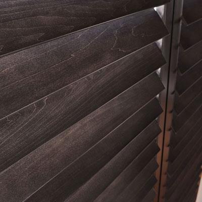dark wood shutters