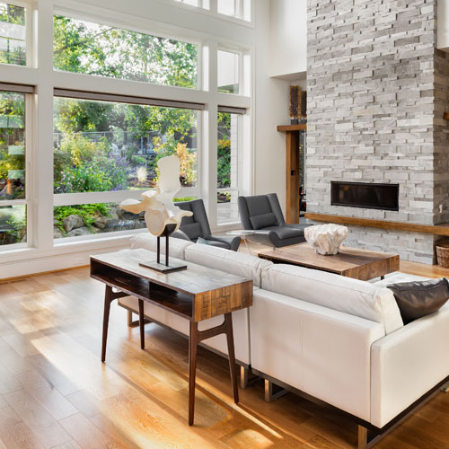 hardwood floor in living