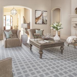 grey plaid luxury carpet