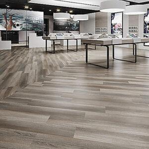 tonal grey resilient flooring